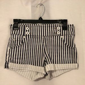 Free People 24 Short Shorts Striped Cuffed 1119